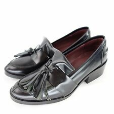 SIXTY SEVEN 67 Loafers Low Shoe Size 36 Black Genuine Leather Shoes NP 115 NEW