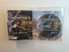 UNCHARTED 3: DRAKE'S DECEPTION PLAYSTATION 3 PS3 COMPLETE CIB GOOD FAST SHIPPING