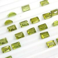 Wholesale Lot of 6x4mm Baguette Cut Natural Peridot Loose Calibrated Gemstone