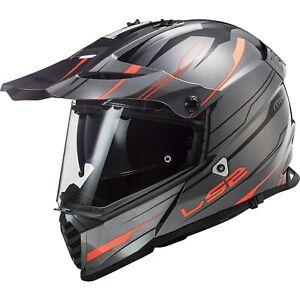 LS2 MX436 Pioneer Evo Knight Enduro Helmet Motorcycle with Sun Visor off Road