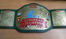 WWF EUROPEAN TITLE CHAMPIONSHIP REPLICA BELT MADE IN 4MM BRASS PLATES