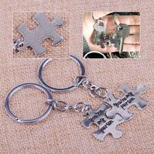 2st Schlüsselanhänger Silber Puzzle individuell Gravur Partner Geschenk Keychain