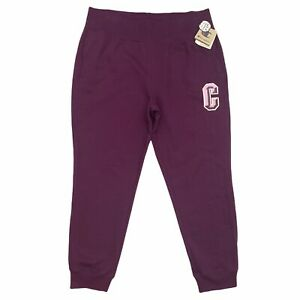 Champion Sz 2XL Women's Reverse Weave Big C Joggers Sweatpants Purple Pink NWT