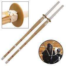 Martial Arts Dual Kendo Shinai Bamboo Practice Katana Bokken Set
