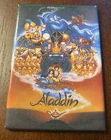 Vintage Walt Disney Aladdin Genie Abu Magnet Movie Poster Magic Carpet Jasmine