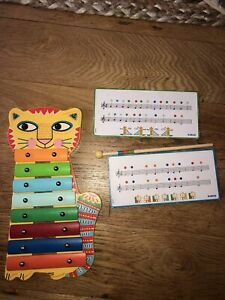 Djeco Animambo Cat Xylophone | Kids Wooden Musical Toy | Musical Instrument