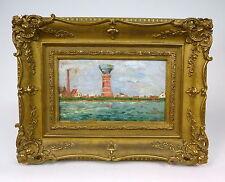 Dipinto Immagine FARO Circa 1900 RIMPROVERO?