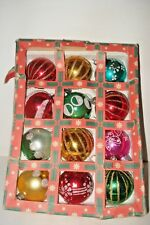 VINTAGE CHRISTMAS DECORATIONS GLASS BAUBLES