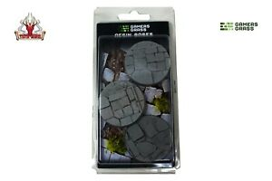 Gamers Grass Temple Resin Bases Round 50mm (x3) New