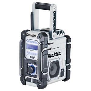 Makita Akku-Baustellenradio DMR112W weiß mit DAB+ & Bluetooth ohne Akku/Ladgerät