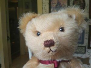 1990s large mohair Merrythought Teddy bear Jeremy Axe England UK 17in EUC