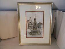 Paul Geissler Original Signed Nuremburg, Germany Colored Etching