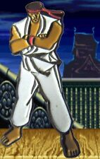 RYU STREET FIGHTER II ORIGINAL 1990s PIN BADGE! NINTENDO SEGA SUPER SNES CAPCOM!