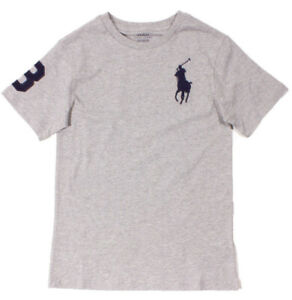 Ralph Lauren Big Pony T-shirt -Grey - 7/8 Years / 140cm - Brand New With Tags!