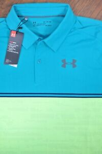 NWT Under Armour Performance Polo Shirt Green Lime Men's XL