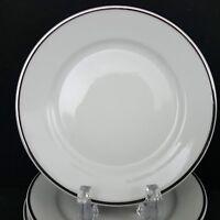 Rosenthal 3471 Aida 10 Bread Plates White Platinum Band 6 in Fine China Vintage