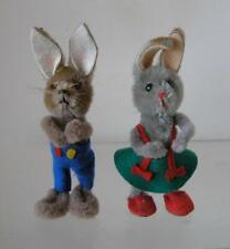 Vintage Schuco 1960's Mascot 7800/1 Pair of Humanized Rabbits Lot of 2 couple