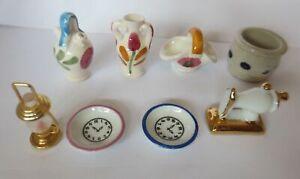 Puppenstuben, Zubehör,  Porzellan, Keramik, Messing,  für die Puppenküche ♥