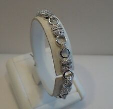 925 STERLING SILVER LADIES FINE TENNIS BRACELET W/ 2.50 CTS DIAMOND/ 7 1/2 ''