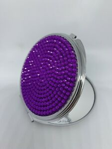 Compact Mirror Sparkle Rhinestones Crystals Colors Bling Double Sided Dual New