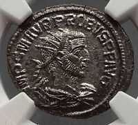 PROBUS with WOMAN 276AD Authentic Ancient Roman Coin NGC Certified MS i60513