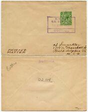 GB 1931 publicado en el Mar Barco Cottica holandés Seapost 1/2d sobre material impreso