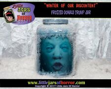 Trump Head in Jar-Horror Art / Halloween Decor / Haunted House Prop-FROSTED JAR