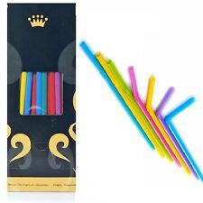 Trinkhalme Jumbo 8 x 250 Flexibel 170 bunte Strohhalme in Golden Cup Box
