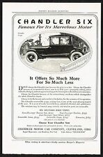 1918 Old Vintage Chandler Six Coupe Motor Car Automobile Co Art Print Ad