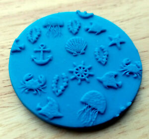 Under The Sea Embosser, Cookie Debosser, Fondant Cookie Stamp - 86
