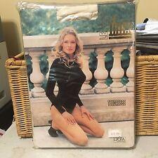 Vintage Ibici lycra ivory bodysuit w/ model dance wear