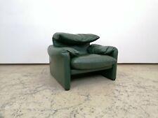 Cassina Maralunga Sessel, grün, Designersessel, Ledersessel