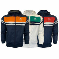 Mens Windbreaker Jacket Crosshatch Coat Hooded Mesh Lined Zip WILLARY Summer New