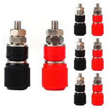 VOSO 8pcs Speaker Amplifier Terminal Banana Plug Socket Connector 4 Red 4 Black