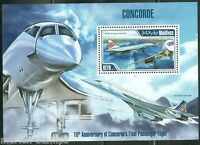MALDIVES 2013 THE CONCORDE  SOUVENIR SHEET MINT NH