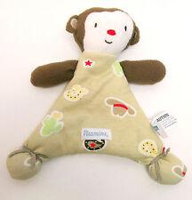 Monkey Lovey Security Blanket Cowboy Brown Tan Vitamins Baby Buddy Toy