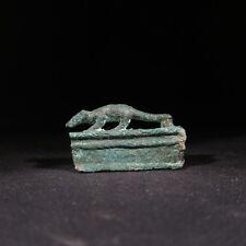 Superb ancient Egyptian bronze miniature bronze mongoose coffin