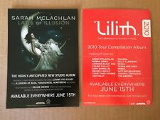 Sarah McLachlan official Promotional Card 5x7 Laws Of Illusion, Lilith,