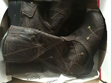 Sanita Maggie Boot in Antique Brown Oiled Suede size