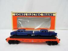 Lionel Lines 6-16933 Orange Flatcar w/ 2 Lionel Blue Removeable Cars Autos train