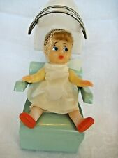 Vintage Beauty Parlor/Hair Salon Doll With Dryer~soft vinyl~marked, heart, Japan