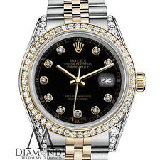 2001 Rolex ladies 26 mm two tone watch with custom diamond dial and custom bezel