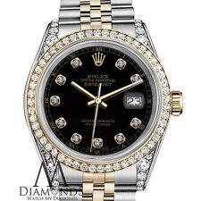 Rolex Ladies 26mm 2 Tone Watch with Custom Diamond Dial & Custom Bezel