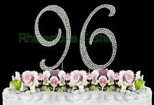 NEW Large Rhinestone  NUMBER (96) Cake Topper 96th Birthday Party Anniversary