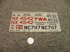 Revell Monogram decals 1/77 Ford Tri-Motor   L56