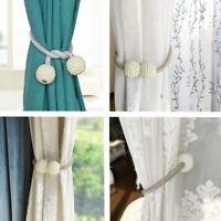 2X Magnetic Curtain Tiebacks Pearl Beads Tie Backs Buckle Clips Holdbacks-Tool