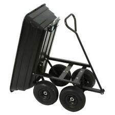 GARDEN TROLLEY WOTH TIPPER SKIP, TRANSPORT TROLLEY WITH SKIP TRAILER, MAX LOAD 2
