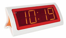 REVEIL PENDULE HORLOGE A LED ROUGES NUMERIQUE DIGITAL DESIGN SNOOZE ALARME