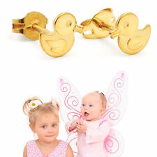 Mädchen Ente Entchen Ohrstecker Kinder Enten Ohrringe aus Echt Gold 333 (8 Kt)