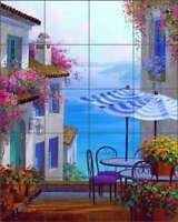 Ceramic Accent /& Decor Tile Senkarik Mediterranean Seascape Art MSA016AT
